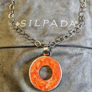 "Silpada Sponge Coral ""O"" necklace. Retired."